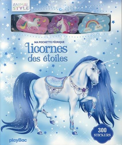 Ma pochette féerique Licornes des étoiles. Avec 300 stickers