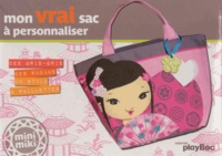 Play Bac - Mon vrai sac à personnaliser - Des gris-gris, des rubans, un stylo à pailetes.