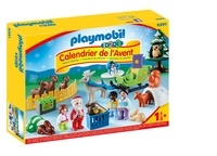 PLAYMOBIL - CALENDRIER DE L'AVENT 1.2.3 PÈRE NOEL ET ANIMAUX DE LA FORET