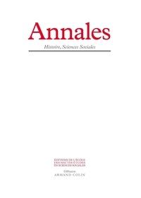 Laurence Moulinier-Brogi et Claire Gantet - Annales Histoire, Sciences Sociales N° 1, Janvier-févrie : Médecine.