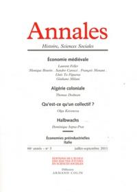 Laurent Feller et Monique Bourin - Annales Histoire, Sciences Sociales N° 3, Juillet-septem : Economie médiévale.