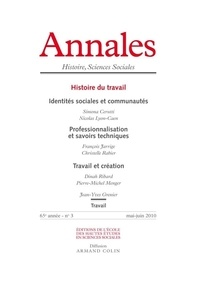 Antoine Lilti - Annales Histoire, Sciences Sociales N° 3, mai 2010 : Histoire du travail.
