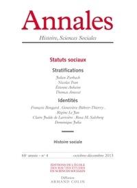 Etienne Anheim et Jean-Yves Grenier - Annales Histoire, Sciences Sociales N° 4, Octobre-décemb : Statuts sociaux.