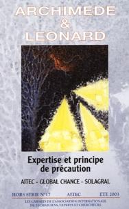 Claire Weill et Yves Marignac - Archimède et Léonard N° 17  Hors Série : Expertise et principe de précaution - Eté 2003.