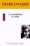Agnès Metton - Champ Lacanien N° 16, Février 2015 : Les paradoxes du désir.