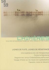 Collectif - Chimères N° 58/59, Hiver 2005 : Lignes de fuite, lignes de résistance.