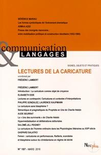 Frédéric Lambert - Communication et Langages N° 187, mars 2016 : Lectures de la caricature.