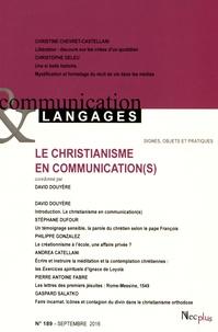 David Douyère - Communication et Langages N° 189, septembre 20 : Le christianisme en communication(s).