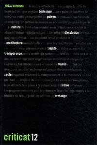 Patrick Henry et Dominique Lyon - Criticat N° 12 automne 2013 : .