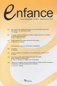 Jacqueline Nadel - Enfance Volume 62 N° 4, Octo : .
