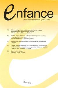 Jacqueline Nadel - Enfance Volume 64 N° 2, Avri : .