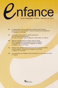 Jacqueline Nadel - Enfance Volume 65 N° 4/2013, : .