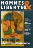 Jean-Pierre Dubois - Hommes & Libertés N° 152, Octobre-nove : Territoires : identités, démocratie.