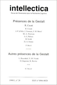 Christian Brassac - Intellectica N° 28, 1999/1 : Présences de la gestalt ; Autres présences de la gestalt.