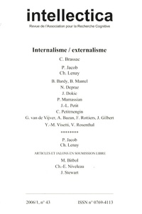 Christian Brassac - Intellectica N° 43, 2006/1 : Internalisme/externalisme.