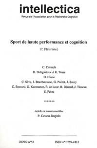 Philippe Fleurance - Intellectica N° 52, 2009/2 : Sport de haute performance et cognition.