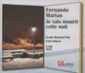 Fernando Marías - Je vais mourir cette nuit. 3 CD audio