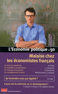 Christian Chavagneux - L'Economie politique N° 50, Avril 2011 : Malaise chez les économistes français.