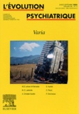 Marie-Claude Lambotte et M-D Lahcen Ait Bentaleb - L'évolution psychiatrique Volume 68 N° 3 Juill : Varia.