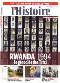 L'Histoire - L'Histoire N° 396, Février 2014 : Rwanda 1994 - Le génocide des Tutsi.