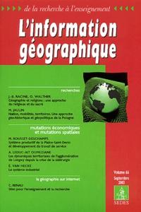 Jean-Bernard Racine et Olivier Walther - L'information géographique Volume 66 Septembre : .