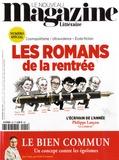 Claude Perdriel - Le Nouveau Magazine Littéraire N° 9, septembre 2018 : Les romans de la rentrée.