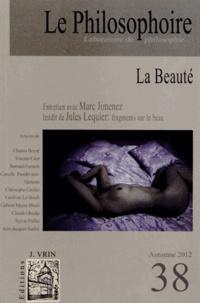 Marc Jimenez - Le Philosophoire N° 38, Automne 2012 : La Beauté.