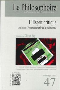 Vincent Citot - Le Philosophoire N° 47, printemps 201 : L'Esprit Critique.