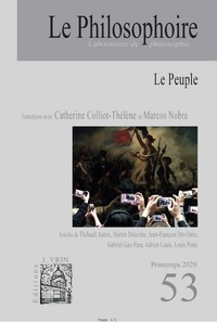 Philosophoire (Le) - Le Philosophoire N° 53, printemps 202 : Le Peuple.