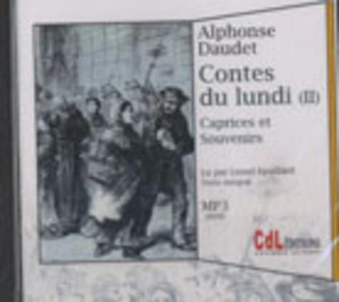 Alphonse Daudet - Les contes du lundi, volume 2 : Caprices et souvenirs - CD MP3.