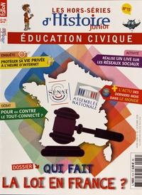 Olivier Fabre - Les hors-séries d'Histoire Junior N° 13, octobre 2018 : Qui fait la loi en France ?.