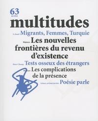 Yves Citton et Yann Moulier Boutang - Multitudes N° 63, été 2016 : Les nouvelles frontières du revenu d'existence.