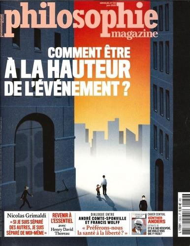 Martin Legros et Michel Eltchaninoff - Philosophie Magazine N° 139, mai 2020 : Comment être à la hauteur de l'événement.