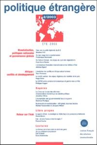 Pierre Lepetit et Frédérique Sachwald - Politique étrangère N° 2/2003 Eté 2003 : .