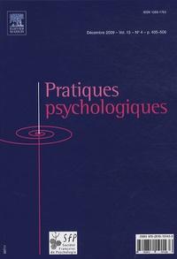 Société Française Psychologie - Pratiques psychologiques Volume 15 N° 4, Déce : .