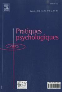 Elsevier - Pratiques psychologiques Volume 16 N° 3, Sept : .