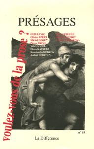 Boris Lejeune et Michel Deguy - Présages N° 18 : Voulez-vous de la prose ?.