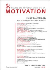 Armen Tarpinian et Charles Rojzman - Revue de psychologie de la motivation N° 35 Juin 2003 : L'art d'aider (II) - Psychothérapie, culture, société.