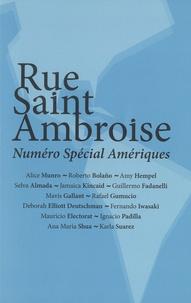 Bernardo Toro - Rue Saint Ambroise N° 36 : Spécial Amériques.