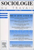 Elsevier - Sociologie du travail Volume 44 N° 1, Janv : .
