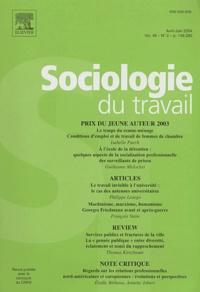Isabelle Puech et Guillaume Malochet - Sociologie du travail Volume 46 N° 2 Avril : .