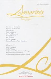 Anne Mariétan - Sonorités N° 4, Septembre 2009 : Pédagogies.