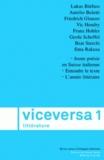 Christa Baumberger et Mathilde Vischer - Viceversa littérature N° 1/2007 : .