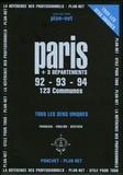 Ponchet - Paris + 3 départements - 20 Arrondissements + 123 Communes, tous les sens uniques et renseignements utiles Edition français/anglais/allemand.