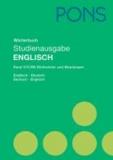 PONS Wörterbuch Studienausgabe Englisch - Englisch-Deutsch / Deutsch-Englisch.