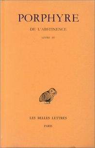 Porphyre - De l'abstinence - Livre 3.