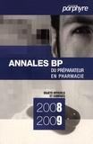 Porphyre - Pack annales BP du préparateur en pharmacie.