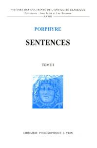 Porphyre - Sentences en 2 volumes.
