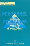 Poujade - Personnel des communes - Mode d'emploi.