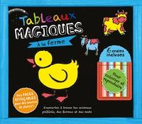 Presses Aventure - Tableau magique, à la ferme - 4 craies incluses.